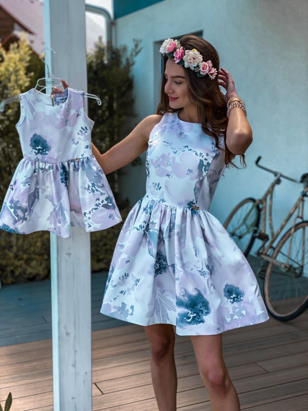 -Společenské šaty mama & dcera XS