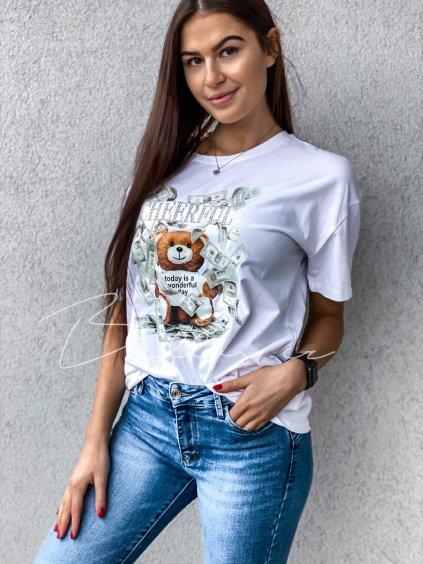 -Dásmké tričko s potiskem Černá
