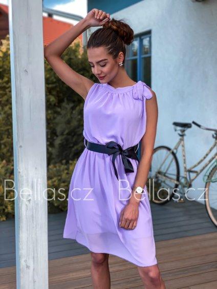 -Dámské šaty Jullia Světle růžová