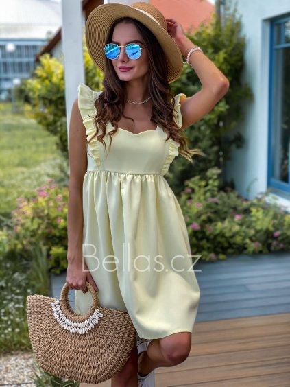 -Dámské šaty Emma exclusive Oranžová,XS
