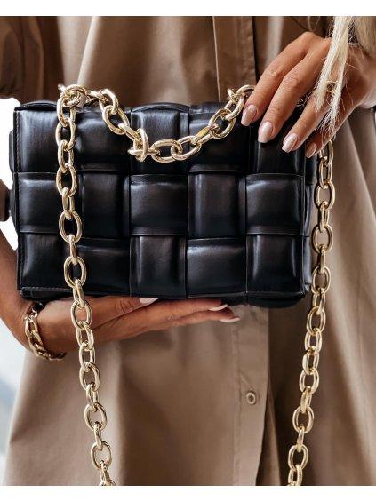 Luxusní kabelka Massimo/ ČERNÁ