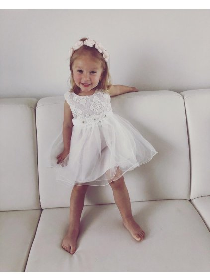 -Dětské šaty Bílá,92