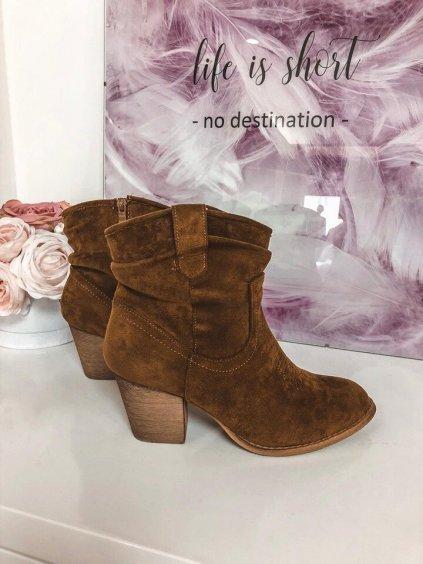 -Dámské zateplené podzimní boty 39