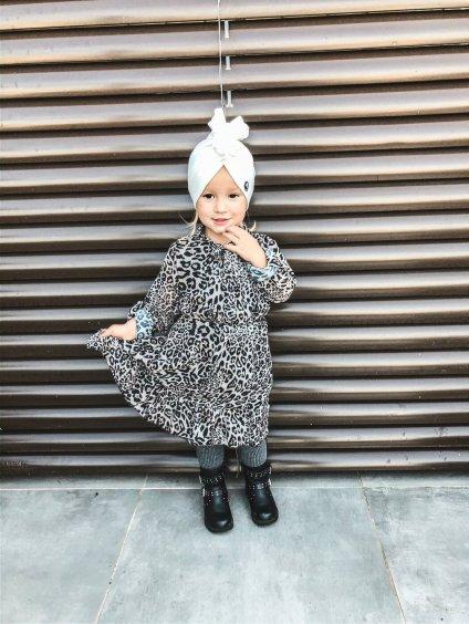 -Dětské šaty Leopard 158
