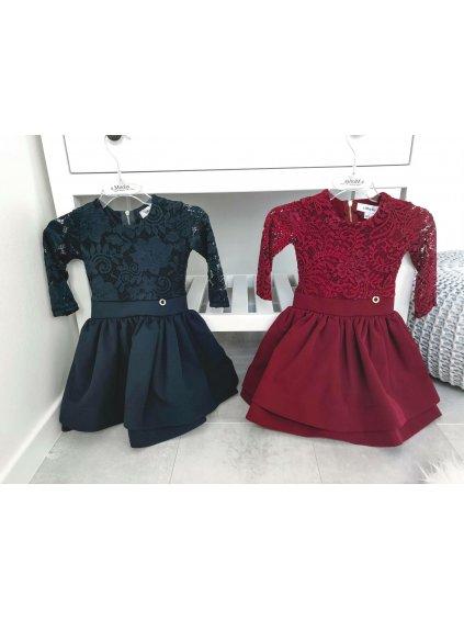 -Dětské šaty Glamour2 Temně Modrá,104