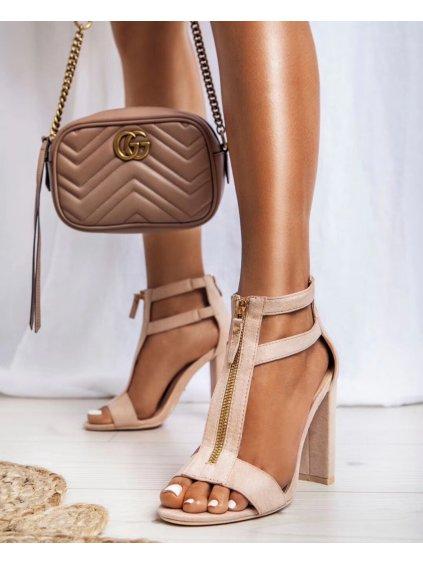 -Dámské otevřené boty Hill Beige 40