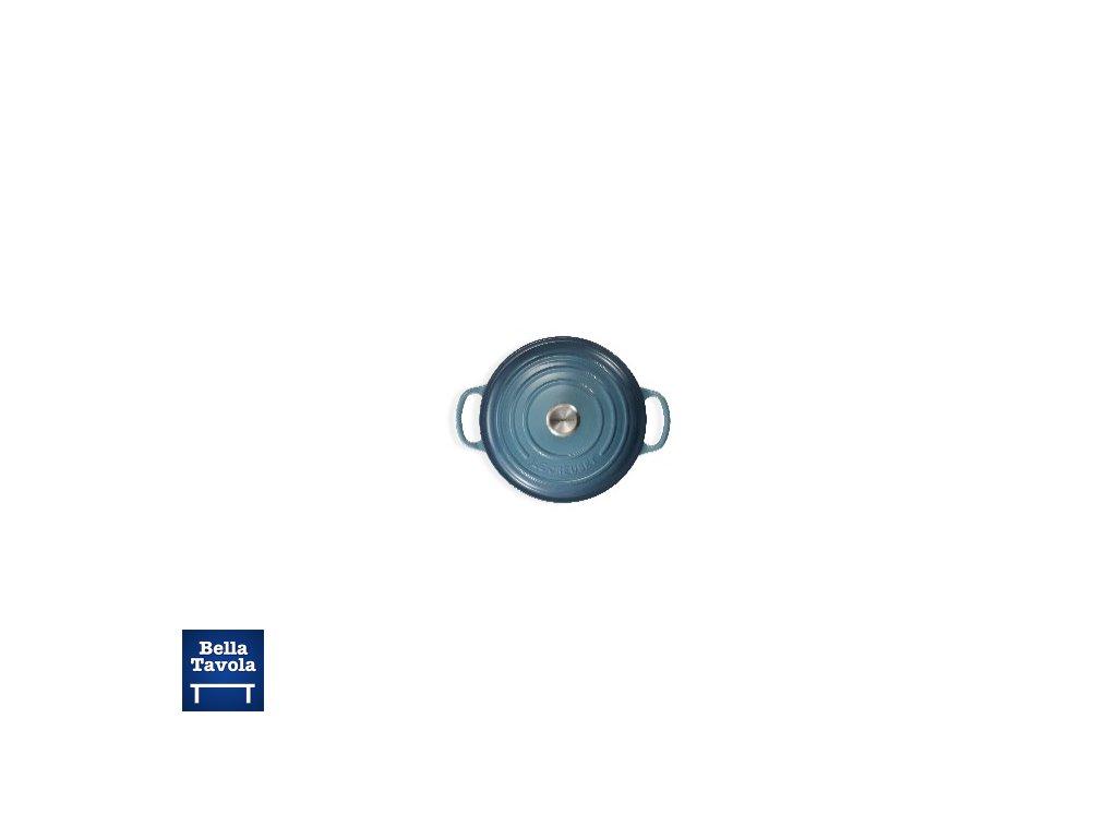16041 le creuset liatinovy hrniec pekac s pokrievkou sig 22 cm marseillska modra