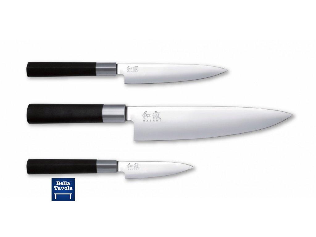 17475 kai wasabi black sada 3 nozov maly noz 10cm univerzalny noz 15cm noz sefkuchara 20cm