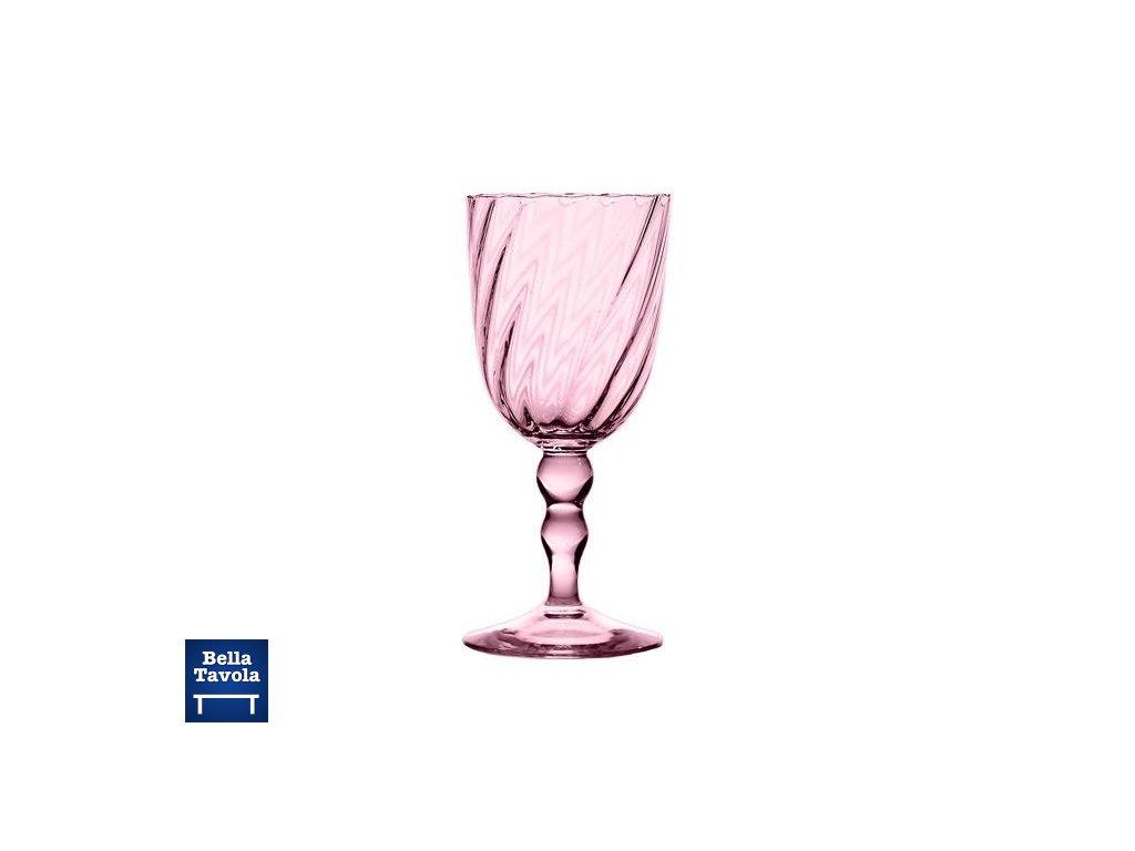 18624 zafferano pohar na vino torson ruzovy