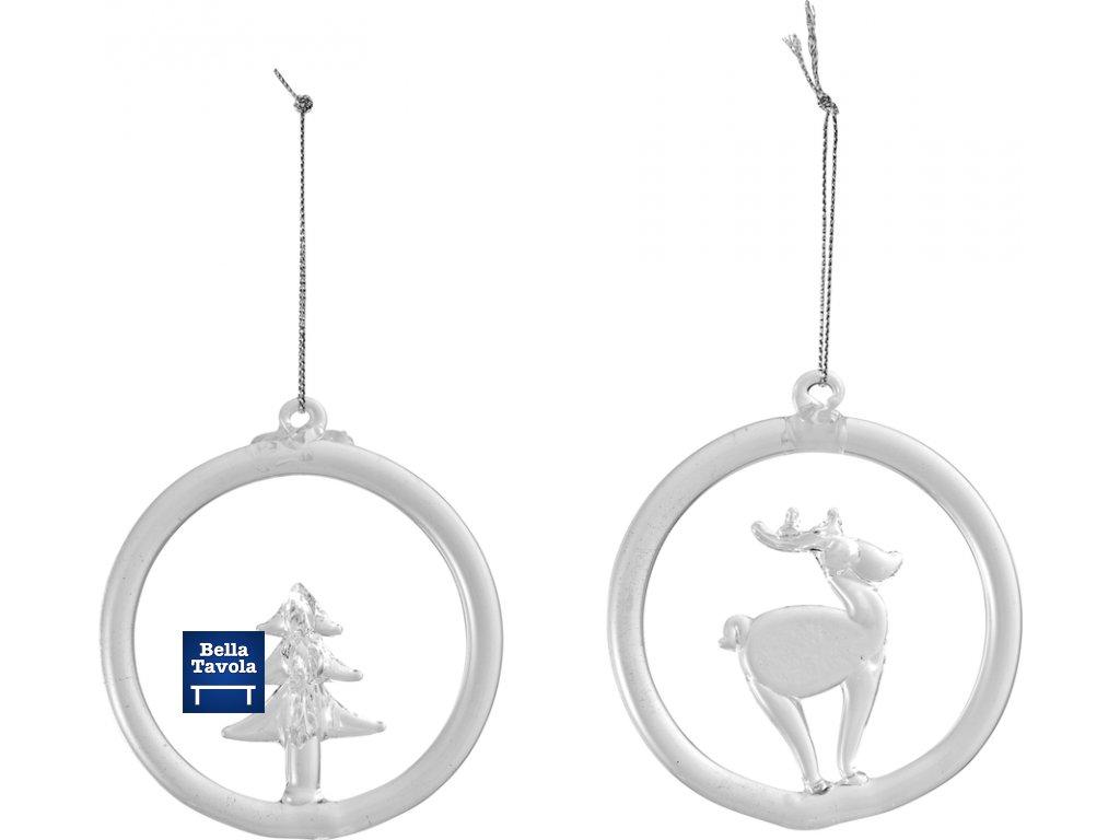 Christmas Decoration -  závesná ozdoba sklenená, set 2 ks , 8,5 cm - Villeroy & Boch