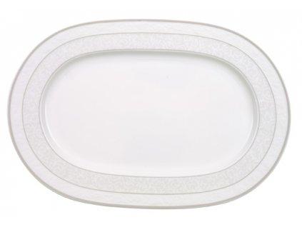 13587 gray pearl ovalny tanier 35 cm
