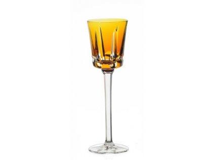 15591 cristal de s vres pohar na vino zlty segovie t 298