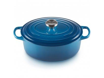 16035 le creuset liatinovy hrniec gourmet s pokrievkou 27 cm modry