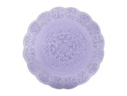 16686 zafferano tanier 32 5 cm barocco fialovy