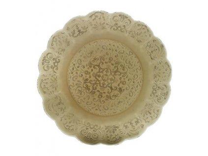 16692 zafferano tanier 32 5cm barocco hnedo sivy