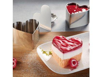 17094 gefu set 3ks formicky na sladky ci pikantny dezert srdce