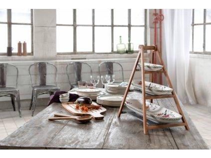 17619 artesano provencal verdure dreveny etazer s 3 porcelanovymi misami villeroy amp boch
