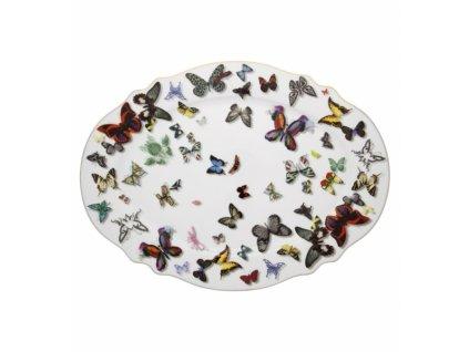 18807 vista alegre velky ovalny tanier butterfly parade