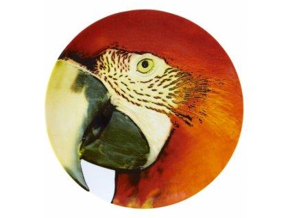 18984 vista alegre servirovaci tanier cerveny papagaj 32 cm olhar o brasil