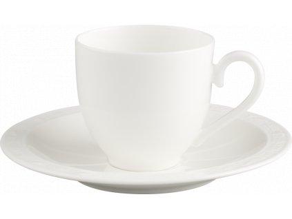 Villeroy & Boch - espresso šálka 0,1l + podšálka - White Pearl