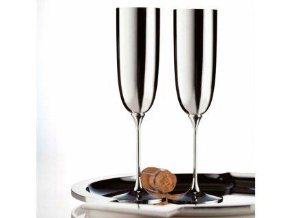 20706 robbe amp berking luxusny pohar na sampanske ciste striebro 925