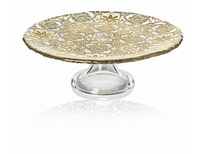 21117 ivv arabesque podnos na tortu 26 cm zlaty