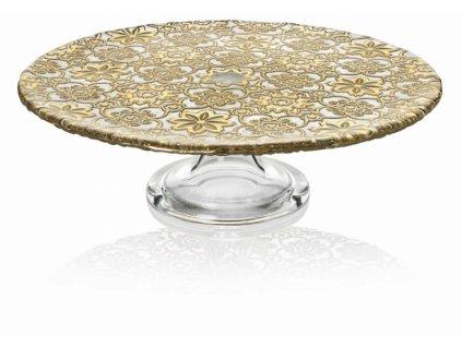 21126 ivv arabesque podnos na tortu 32 cm zlaty