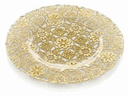 21165 ivv arabesque servirovaci tanier 32 cm zlaty