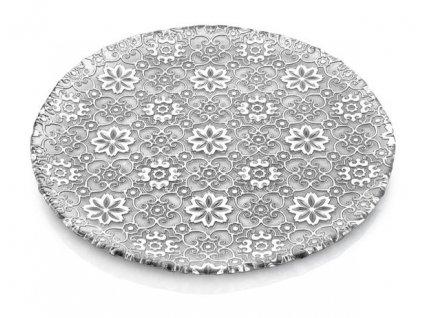 21186 ivv arabesque servirovaci tanier 37 cm strieborny