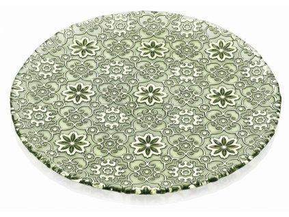 21189 ivv arabesque servirovaci tanier 37 cm zeleny