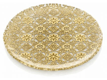 21192 ivv arabesque servirovaci tanier 37 cm zlaty