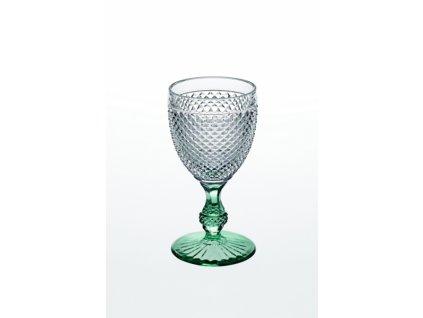 22014 vista alegre dvojfarebny pohar na vino vodu zeleny bicos
