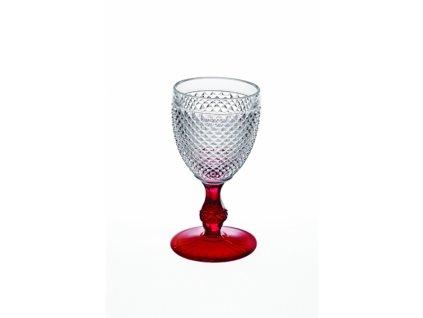 22017 vista alegre dvojfarebny pohar na vino vodu cerveny bicos