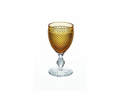 22020 vista alegre dvojfarebny pohar na vino vodu zlty bicos