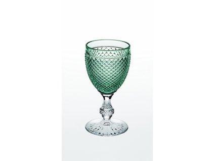 22026 vista alegre dvojfarebny pohar na vino vodu zeleny bicos