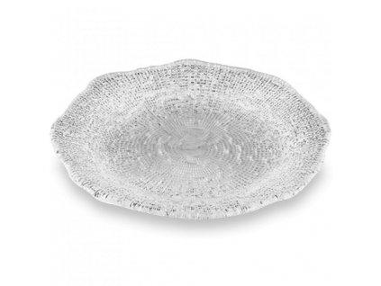 IVV - Diamante - plytký tanier 28 cm - číry