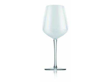 23247 ivv pohare na vino cire biele sklo set 6 ks