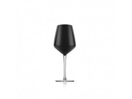 23481 ivv pohare na vino cierne sklo set 6 ks