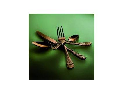 23550 mepra luxusny priborovy set s ornamentmi diana bronzo 24 ks