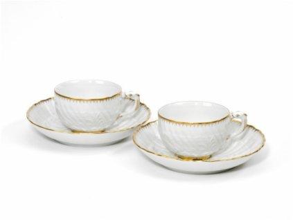 23580 meissen cosmopolitan gold swan set 4 ks salka podsalka na kavu