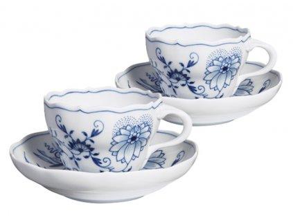23619 meissen blue onion kavovy set 4 ks