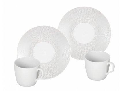 23643 meissen cosmopolitan white mesh espresso set 4 ks