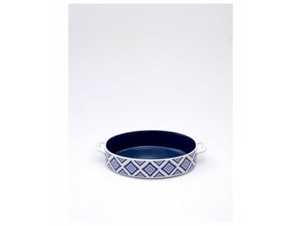 23853 zafferano zapekacia misa 23 cm ovalna rapsody in blu