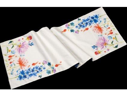 24513 anmut flowers textil behun satin 50x150 cm villeroy amp boch