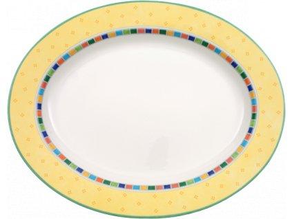 24696 villeroy amp boch ovalny tanier 41 cm twist alea limone