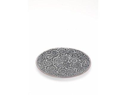 25455 zafferano dezertny tanier 21 5 cm cierny tue