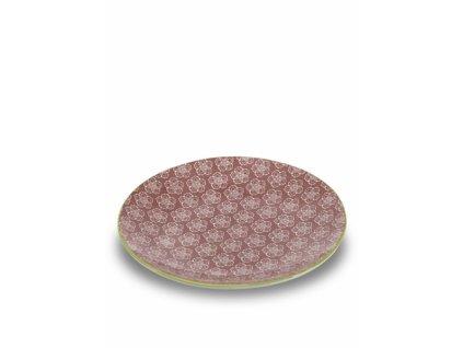 25488 zafferano plytky tanier 26 5 cm ruzovy tue