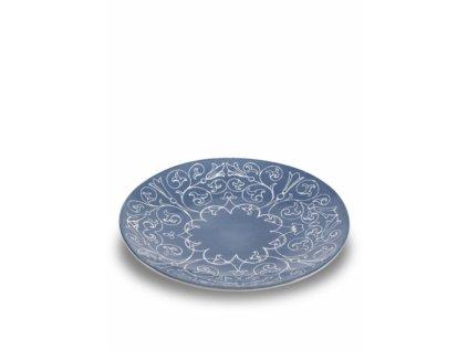 25491 zafferano plytky tanier 26 5 cm tyrkysovy tue