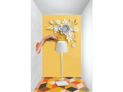 25515 zafferano dotykova stolova lampa biela poldina