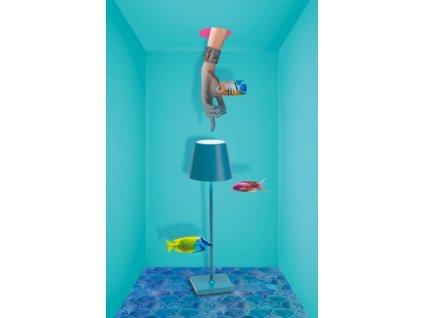 25524 zafferano dotykova stolova lampa modra poldina